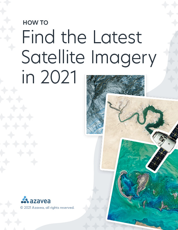 How to Find the Latest Satellite Imagery in 2021, Whitepaper Cover.